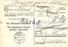 Echte Briefmarken aus der US - & britischen Zone (ab 1945) als Ganzsache
