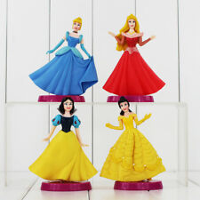 "Disney Princesses Set Of 4 Large 5"" Birthday Cake Topper Figurines Toy Set"