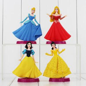 "Disney Princesses Set Of 4 Large 5"" Birthday Cake Topper Figurines Toy Set"