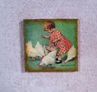 DOLLHOUSE miniature FARMHOUSE picture Sign 1:12 Jesse Wilcox Smith Chickens