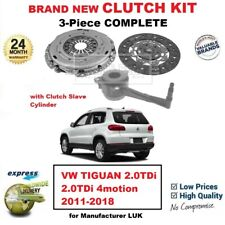 FOR VW TIGUAN 2.0TDi 2.0TDi 4motion 2011-2018 BRAND NEW 3-PC CLUTCH KIT with CSC