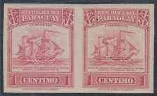 PARAGUAY 1946 EARLY MERCHANT SHIP Sc 435 IMPERF PAIR MNH VF