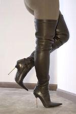 R&Renzi Gianmarco Lorenzi high heels thigh crotch overknee stiletto boots 38 8