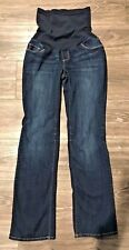 Maternity Jeans Sz Small A Pea in the Pod Over the Belly Dark Wash