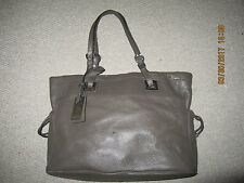 CALVIN KLEIN  CK WOMEN,S GRAY LEATHER  GREY HANDBAG BAG PURSE
