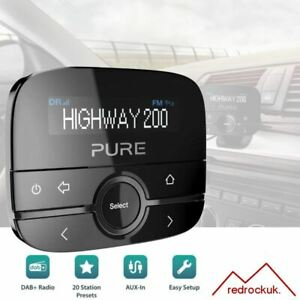 Pure Highway 200 In Car DAB+/DAB Digital Radio FM Adapter with AUX Input - Black
