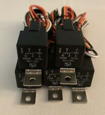 (5) 12 VOLT PREMIUM SPDT RELAYS & SOCKETS CAR ALARM 40 AMP 40A 12V AUTOMOTIVE