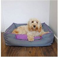 "Rosewood 40 Winks Pet Dog Mattress Bed Waterproof Crate Grey Blue Medium 30"""