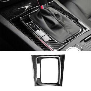 2Pcs Carbon Fiber Gear Shift Panel Trim For Mercedes-Benz C Class W204 2007-13