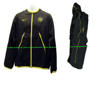 New NIKE Vintage  Men's T90 Total 90 FOOTBALL Tracksuit Black and Yellow S