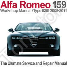 Alfa Romeo 159 (Type 939) 2005 to 2011 Workshop, Service and Repair Manual on CD