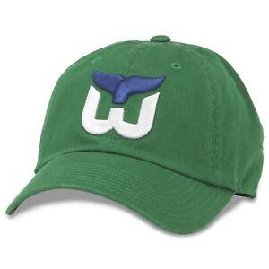 Hartford Whalers American Needle Blue Line Vintage Hockey Slouch Green Hat / Cap