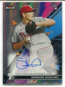 2021 TOPPS FINEST RC SPENCER HOWARD REFRACTOR AUTOGRAPH