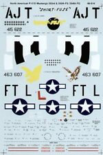 Microscale Decals 1/48 norte-americano P-51D Mustang ases # SS480914
