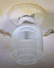 Sospensione Bianco Vetro Lampadario Lampada Vintage Design Ottone Luce Soffitto