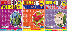 WORDSEARCH BOOK - LARGE PRINT -  3 BOOK SET - 282 PUZZLES - NEW - SET 227