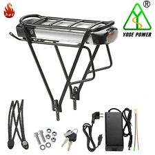 E-Bike Batterie Vélo Electrique Lithium 36V13Ah avec Porte-Bagage pour V-Frein