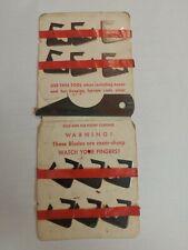 Vintage Archery Bear Razorhead bleeder blades.never used.red strip