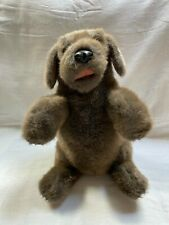 """14"""" New w/o Tags Folkmanis Brown Sitting Dog 100% Polyester Soft Plush Puppet"""