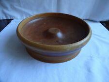 More details for vintage nut cracker turned wooden bowl diameter 23 cm