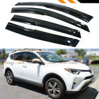 FOR 2013-18 TOYOTA RAV4 JDM WAVY 3D STYLE SMOKE TINT WINDOW SUN RAIN GUARD VISOR