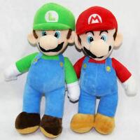 "2pcs /Set Super Mario Plush Toy Luigi & Mario Doll Stuffed Animals 10"""