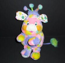 "12"" Popples Pixie Doodle Tie Dyed Rainbow Plush Stuffed Animal 2001"
