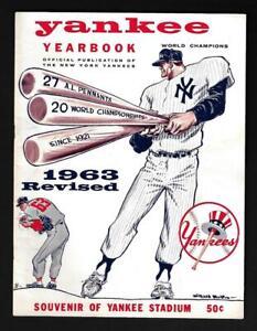1963 New York Yankees Yearbook REVISED Sep 3, Mickey Mantle, Roger Maris- NM/MNT