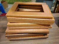 Vintage Wood PICTURE FRAME Lot Recycle Arts Crafts Project Deco paint geo