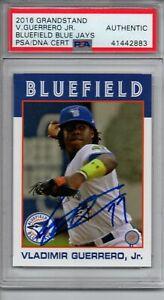 Vladimir Guerrero Jr. 2016 Bluefield Blue Jays Autographed Signed Card PSA
