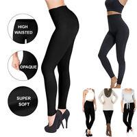 US Slimming Legging High Waist Elastic Tight Tummy Control Panties Trouser Black