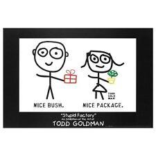 """Nice Package. Nice Bush."" Fine Art Litho Poster (36"" x 24"") Todd Goldman"