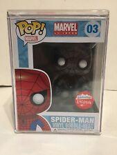 Funko POP! Black/White Spider-Man Fugitive Toys Exclusive w/Hard Stack