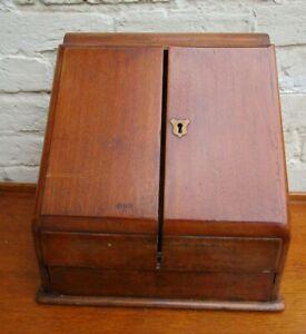 ANTIQUE MAHOGANY STATIONARY BOX