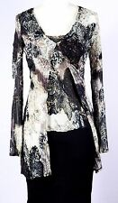 NWT ALBERTO MAKALI $280 2 PIECE CRINKLE CRUISE TRAVEL OR WORK SHELL & COVER UP S