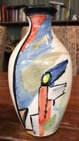 Beautiful Signed Steve Duffy Pottery ART Vase Mid Century Studio England 9""