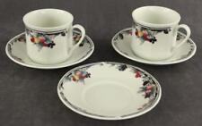 Vintage Royal Doulton English China AUTUMN'S GLORY Pattern Coffee Mugs & Saucers