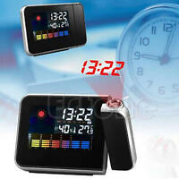LCD Digital LED Projector Projection Clock Alarm  Weather Station Calendar New