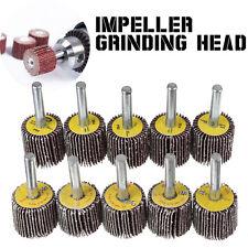 10pcs 40+80 Grit Sanding Flap Disc Grinding Polishing Wheel Drill Abrasive Tool