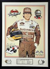 Motorsports Formula 1 Racing Ayrton Senna The Legend Signed- Framed