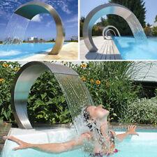 Schwimmenbecken Pool Wasserfall Pool-Fontäne Edelstahl Wasserbrunnen Gartenteich