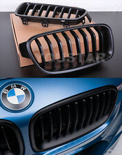 FAST EMS x2 MATT BLACK Individual BLACKOUT Kidney Grills BMW 3 Series F30 F31