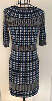 NEW TAGGED MAX STUDIO  Blue Art Deco Floral Tunic Dress Small 8 10 $98
