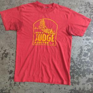 VTG Hanes JOHN P JUDGE Graphic T Shirt SMALL Conspiracy Theory JFK 9/11 Auditor