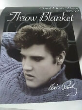 Elvis Presley Sweater Colar Cashmere PLUSH SOFT blanket throw NEW