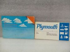 PLYMOUTH FURY      1978 Owners Manual 16528