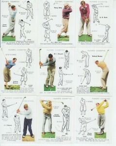 Golf Cards -Victoria Gallery reproduction of Golf 1939 FULL SET of 25