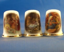 Birchcroft Thimbles -- Set of Three -- Nativity