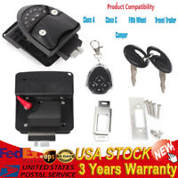 Keyless Entry Door Lock Latch Handle Knob Deadbolt RV Camper Trailer Black NEW