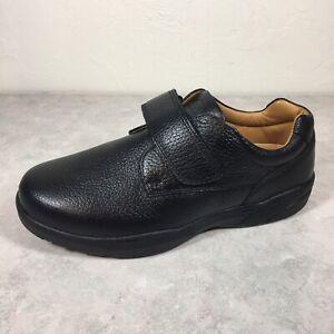 Dr. Comfort Men's William X-Depth Black Leather Casual Orthopedic Shoes US 11.5W